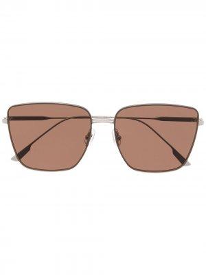 Солнцезащитные очки Bella в квадратной оправе Gentle Monster. Цвет: коричневый