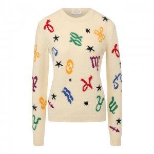 Шерстяной пуловер Saint Laurent. Цвет: разноцветный