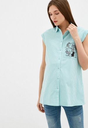 Блуза BuduMamoy. Цвет: бирюзовый