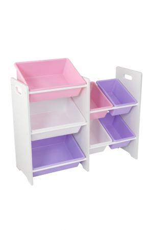 Система хранения 7 Kidkraft. Цвет: белый, розовый, сиреневый