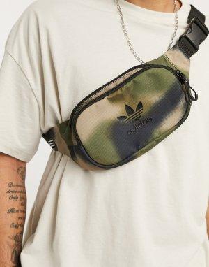 Сумка-кошелек на пояс с камуфляжным принтом -Зеленый цвет adidas Originals