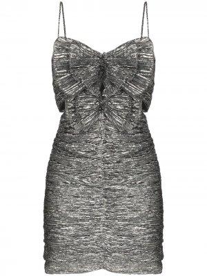 Платье мини Tikyna с эффектом металлик Isabel Marant. Цвет: серый