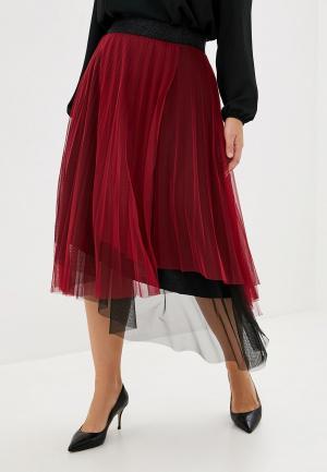 Юбка Keyra. Цвет: бордовый
