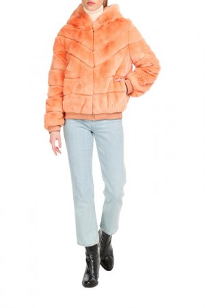 Short fur coat Manakas. Цвет: coral