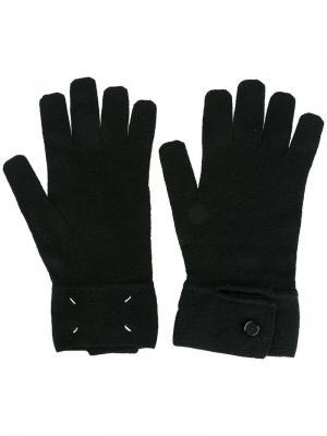 Классические перчатки Maison Margiela. Цвет: чёрный