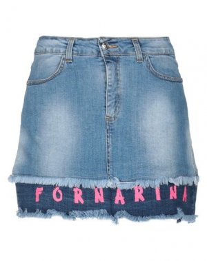Джинсовая юбка FORNARINA. Цвет: синий