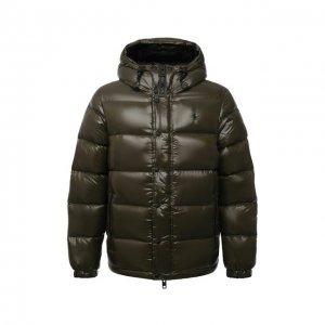 Пуховая куртка Polo Ralph Lauren. Цвет: хаки