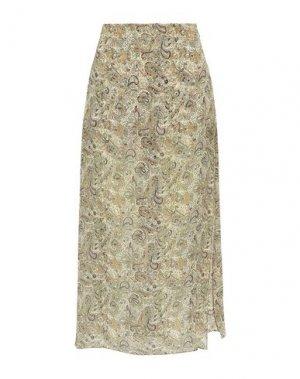 Длинная юбка HAUTE HIPPIE. Цвет: бежевый
