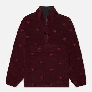 Мужская куртка анорак All Over Embroidered Bronze 56K. Цвет: бордовый