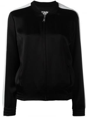 Куртка-бомбер Karl Lagerfeld. Цвет: чёрный