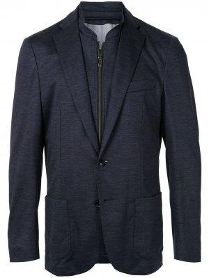 Пиджак со съемным жилетом Corneliani. Цвет: синий