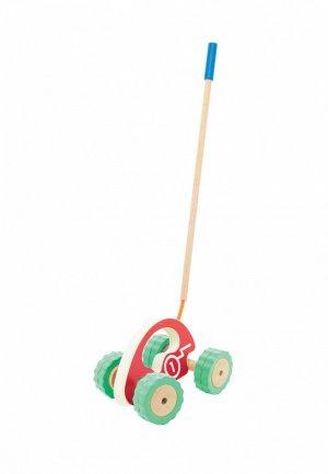 Игрушка Игрушки из дерева Ролли Каталка-машина. Цвет: разноцветный