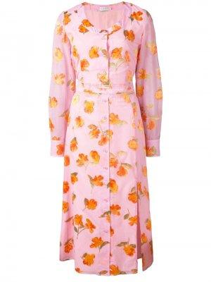Платье с цветочным принтом Altuzarra. Цвет: розовый