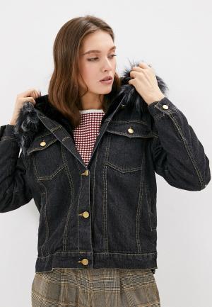 Куртка джинсовая Elsi. Цвет: черный