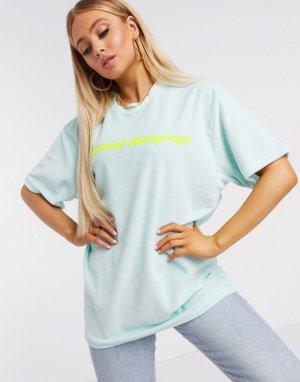 Oversized-футболка -Зеленый Criminal Damage