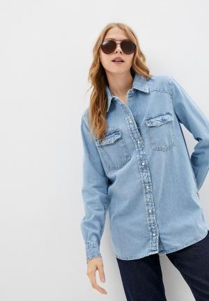 Рубашка джинсовая Guess Jeans. Цвет: голубой