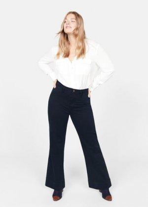 Расклешенные джинсы - Christin Mango. Цвет: темно-синий