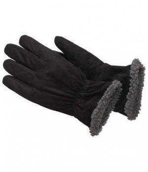 Замшевые Перчатки с Шерпой Atlas For Men. Цвет: черный