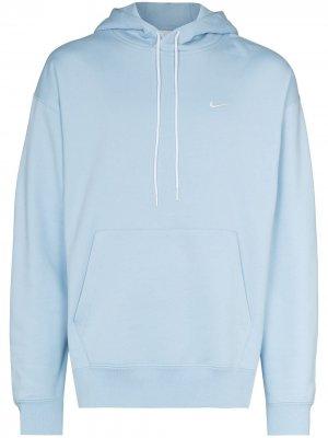 Худи с кулиской и логотипом Swoosh Nike. Цвет: синий