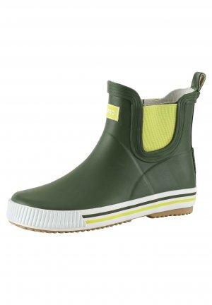 Резиновые сапоги Ankles Зеленые Reima. Цвет: зеленый