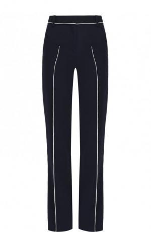 Хлопковые расклешенные брюки Valentino. Цвет: синий