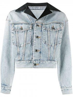 Джинсовая куртка с заостренными лацканами Alexander Wang. Цвет: синий
