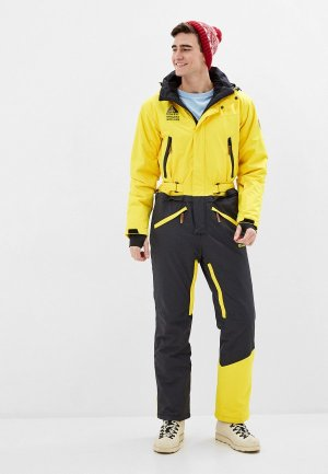 Комбинезон сноубордический High Experience. Цвет: желтый