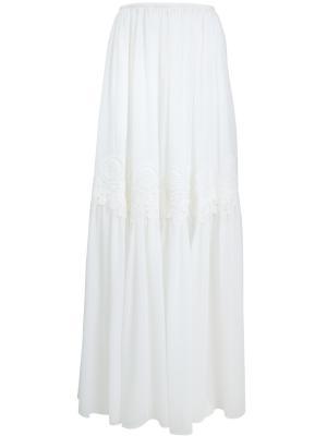 Шелковая юбка-макси CHLOE