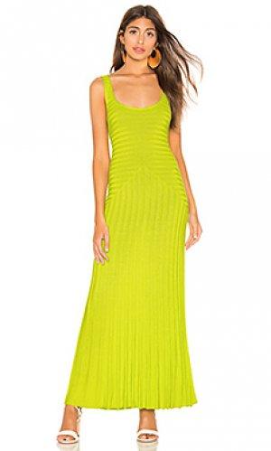 Платье michaela Mara Hoffman. Цвет: зеленый