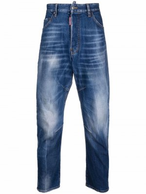 Зауженные джинсы средней посадки Dsquared2. Цвет: синий