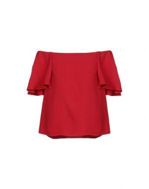 Блузка VALENTINO. Цвет: красный