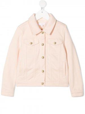 Джинсовая куртка Chloé Kids. Цвет: розовый