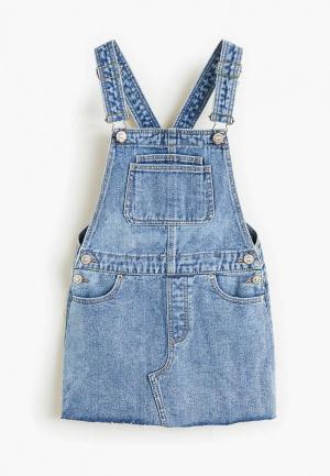 Платье Mango Kids - PAULA. Цвет: синий