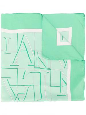Платок с принтом LANVIN Pre-Owned. Цвет: зеленый
