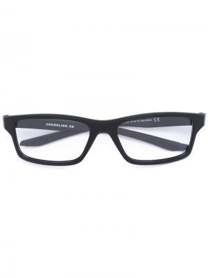 Очки в тонкой оправе Oakley. Цвет: чёрный