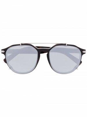 Солнцезащитные очки Blacksuit с зеркальными линзами Dior Eyewear. Цвет: черный