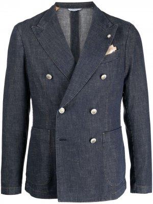 Двубортный пиджак Nuvola Manuel Ritz. Цвет: синий