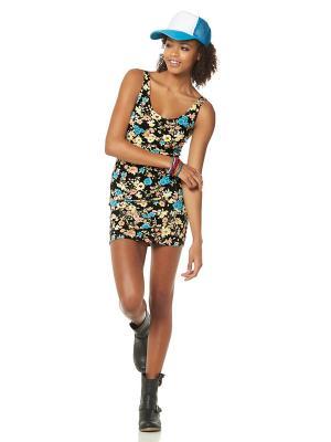 Платье AJC. Цвет: черный, синий, желтый