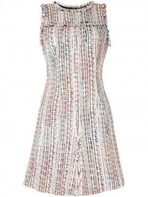 Твидовое платье букле Dean Elie Tahari. Цвет: разноцветный