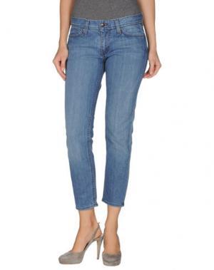 Джинсовые брюки-капри HABITUAL. Цвет: синий