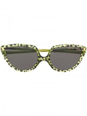 Солнцезащитные очки в оправе кошачий глаз Mykita. Цвет: зеленый