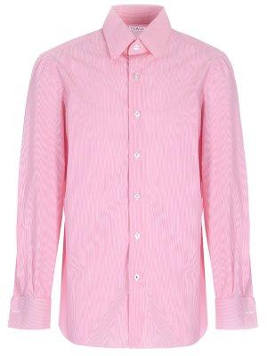 Рубашка Regular Fit под запонки ISAIA