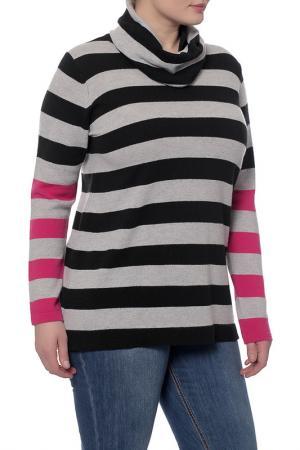 Пуловер Marina Rinaldi. Цвет: черный, серый