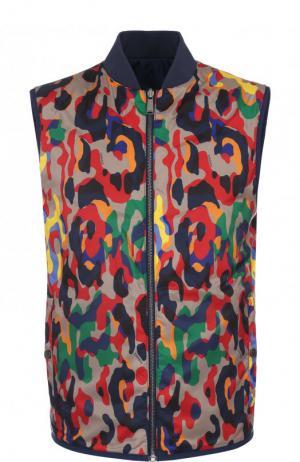 Двусторонний жилет на молнии Versace. Цвет: разноцветный