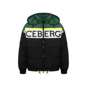 Пуховая куртка Iceberg. Цвет: разноцветный