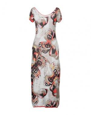 Длинное платье ALTEЯƎGO. Цвет: серый