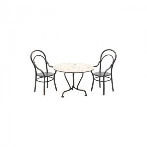 Игрушечный Обеденный стол и два стула мини Maileg. Цвет: разноцветный