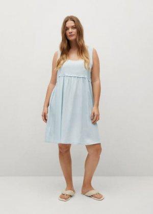 Короткое платье из лиоцелла - Adri-i Mango. Цвет: выбеленный синий