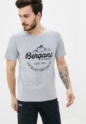 Футболка Bergans of Norway Classic Tee. Цвет: серый