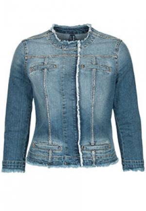 Джинсовая куртка LIU JO. Цвет: голубой